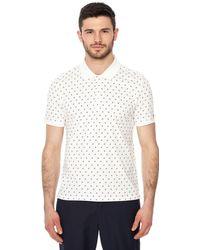 Ben Sherman - Big And Tall White Geometric Floral Print Polo Shirt - Lyst