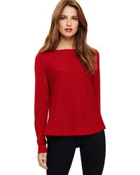 Phase Eight - Red Terza Shimmer Swing Knit - Lyst