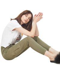 Miss Selfridge - Khaki High Waist Skinny Fite Cargo Trousers - Lyst