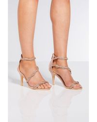 2571c299789 Steve Madden Cagged Diamante Strappy Heeled Sandals - For Women in ...