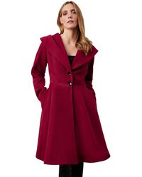 James Lakeland - Red Hooded Tailored Coat - Lyst