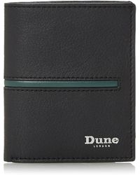 Dune Black 'oxhill' Rfid Bilfold Wallet