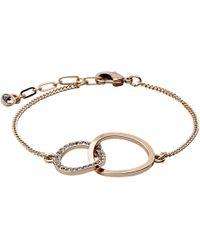 Pilgrim - Rose Gold Crystal Bracelet - Lyst