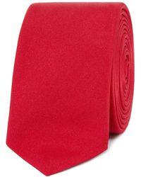 Red Herring Herring Plain Skinny Tie - Red