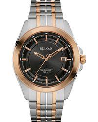 Bulova - Men's Bi Colour 'precisionist' Multi Link Watch 98b268 - Lyst