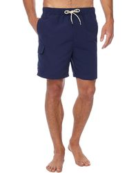 Red Herring - Navy Cargo Swim Shorts - Lyst