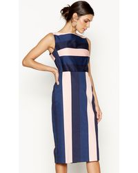 Red Double Strap V-neck Knee Length Skater Dress. £69 Sold out. Debenhams ·  J By Jasper Conran - Navy And Pink Striped Wiggle Dress - Lyst 506051de2