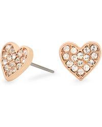 Pilgrim - Rose Gold Crystal Earrings - Lyst