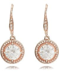 Anne Klein - Rose Gold Eurowire Earrings - Lyst