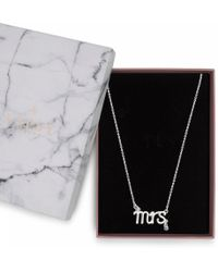 """Lipsy - Crystal """"mrs"""" Necklace - Lyst"""