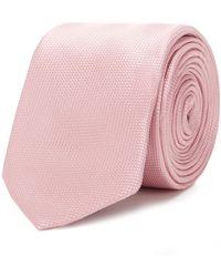 Red Herring Textured Slim Tie - Pink