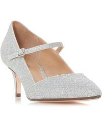 Roland Cartier - Silver 'audrey' Kitten Heel Court Shoes - Lyst