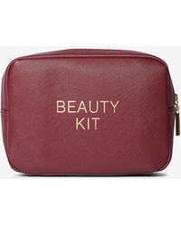 Dorothy Perkins - Burgundy Slogan Makeup Bag - Lyst