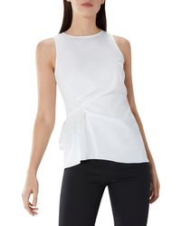 Coast - Ivory 'follie' Ruched Feather Top - Lyst