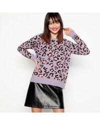 House of Holland - Lilac Animal Print Jumper - Lyst