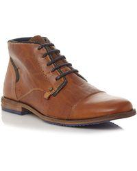 0c936cb14e8 Men's 'choppa' Blue Sole Toecap Leather Lace Up Boots - Brown