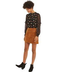 3d5b478cb Oasis Cord Pocket Mini Skirt - Burgundy in Blue - Lyst