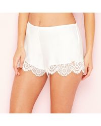 Ted Baker 'tie The Knot' Lace Pyjama Shorts - White