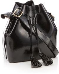 Faith - Black Patent Faux Leather Drawstring Duffle Bag - Lyst