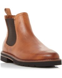 Dune - Tan 'quart' Reptile Back Panel Chelsea Ankle Boots - Lyst