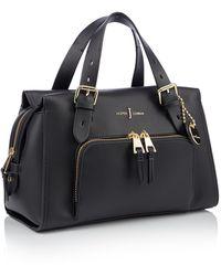 J By Jasper Conran Faux Leather 'holland Park' Grab Bag - Black