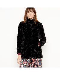Vero Moda - Black Faux Fur Jacket - Lyst