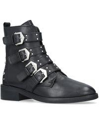 Carvela Kurt Geiger - Scant' Flat Biker Boots - Lyst