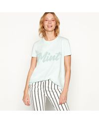 House of Holland - Light Turquoise Cotton 'mint' Slogan T-shirt - Lyst