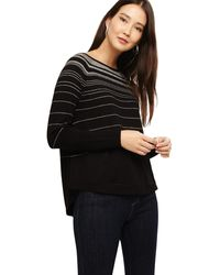 356ef01d702 And Grey Terza Stripe Swing Knitted Jumper - Black