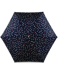 Radley - Navy Printed 'vintage Dog Dot' Mini Telescopic Umbrella - Lyst