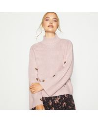 Red Herring Pink Buttoned Sleeve Jumper