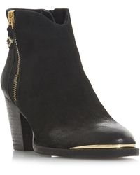 5ccef2d957c Leather 'francy ' Mid Block Heel Ankle Boots - Black