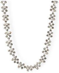 Anne Klein - Silver Tone Crystal Stone Collar Necklace - Lyst