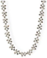 Anne Klein - Silver Tone Crystal Stone Collar Necklace - Lyst