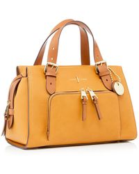 J By Jasper Conran Dark Yellow Faux Leather 'holland Park' Grab Bag - Multicolour