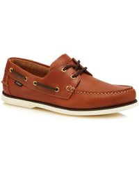 Loake - Tan Leather '528' Boat Shoes - Lyst
