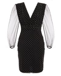 Quiz Black Polka Dot Bodycon Dress
