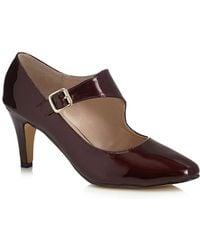Lotus - Dark Red Patent 'laurana' Mid Heel Court Shoes - Lyst