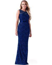 4f17e1be Lipstick Boutique Lilac 'selianna' Sequin High Neck Dress in Purple - Lyst