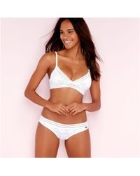 Bonds - White Tropical Lace Non-wired Non Padded Triangle Bra - Lyst