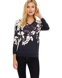 Phase Eight - Blue Bethal Floral Printed Top - Lyst