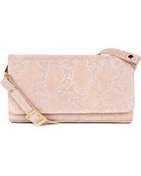 Peter Kaiser - Pink Leather 'lanelle' Clutch Shoulder Bag - Lyst