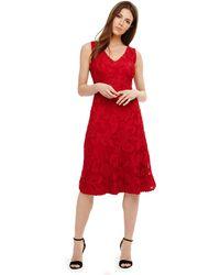 Phase Eight - Red Greta Tapework Dress - Lyst