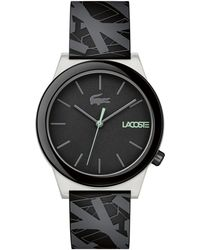 Lacoste - Gents Black Strap Watch - Lyst