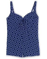 Lands' End - Multi Regular Shape And Enhance Sweetheart Split Front Geo Print Tankini Top - Lyst