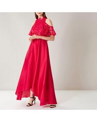 Coast - Red Lyndsie Lace Maxi Dress - Lyst