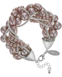 J By Jasper Conran - Designer Pearl And Chain Twist Necklace - Lyst