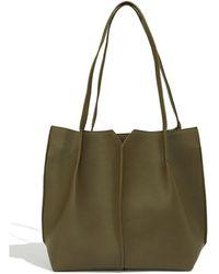 66e250538 Ted Baker Amelia Leather Mini Tote Bag in Black - Lyst