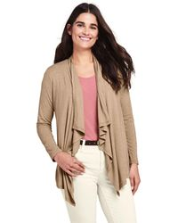 Lands' End Lightweight Waterfall Cardigan - Multicolour