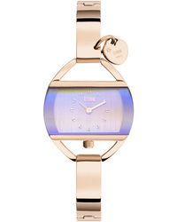 Storm - Ladies Rose Gold 'temptress Charm' Swarovski Analogue Bracelet Watch - Lyst